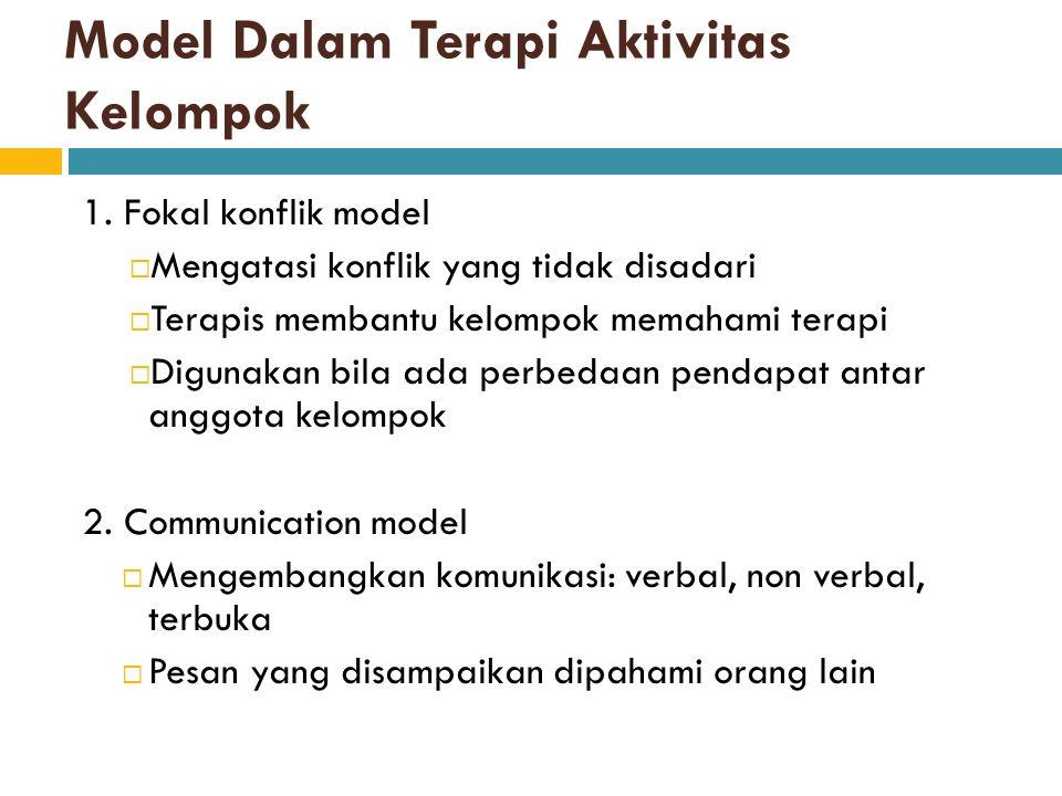 Model Dalam Terapi Aktivitas Kelompok