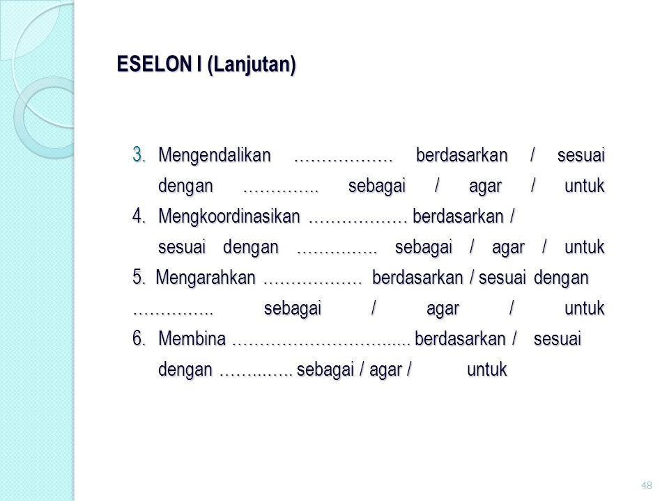 ESELON I (Lanjutan)
