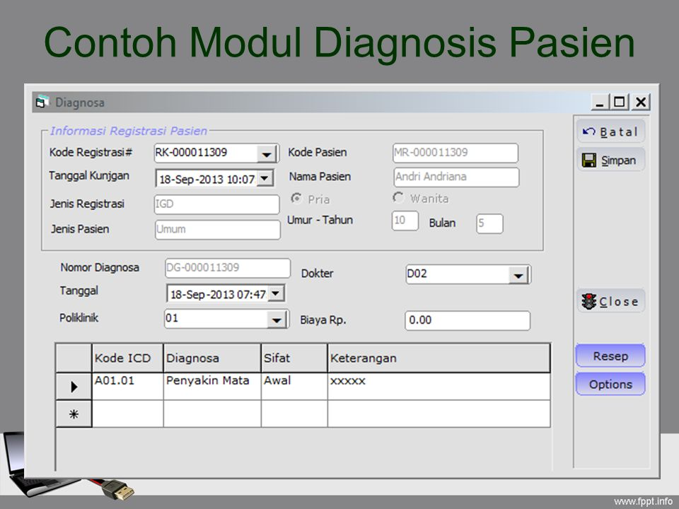 Contoh Modul Diagnosis Pasien