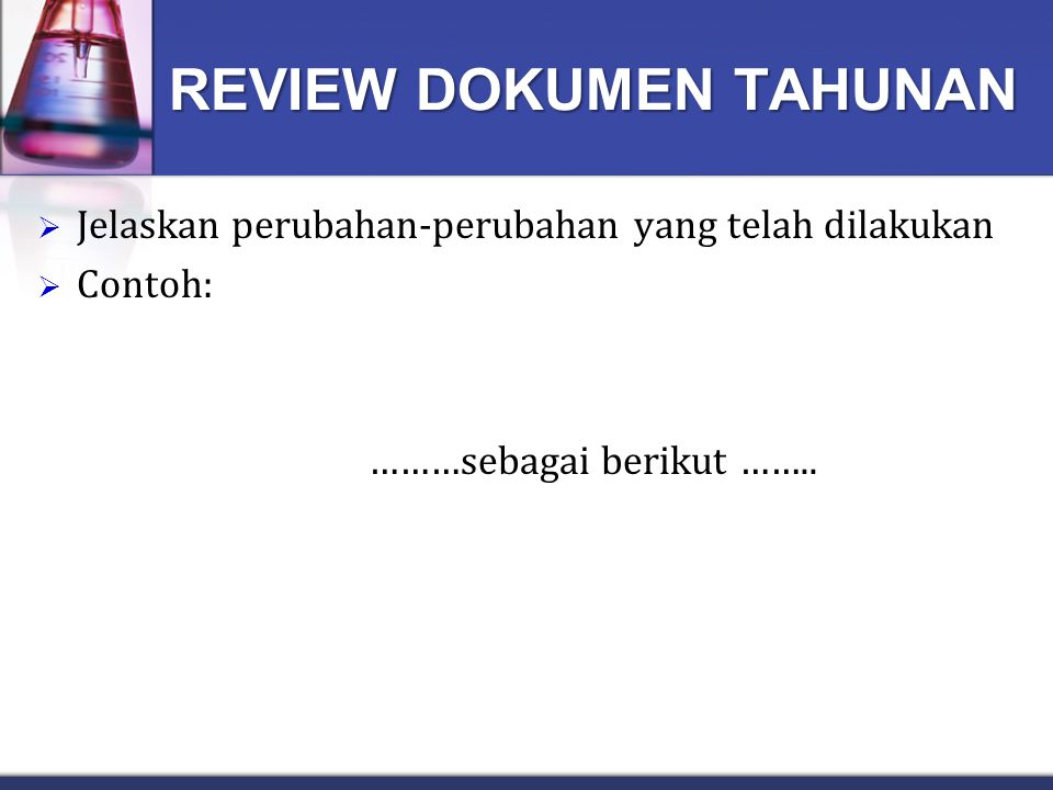 REVIEW DOKUMEN TAHUNAN