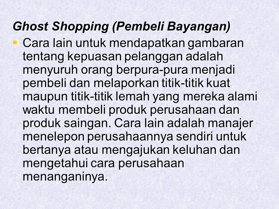 Ghost Shopping (Pembeli Bayangan)