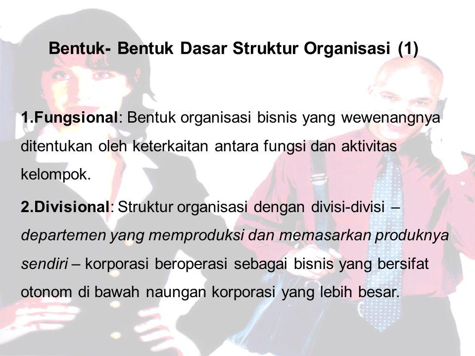 Bentuk- Bentuk Dasar Struktur Organisasi (1)
