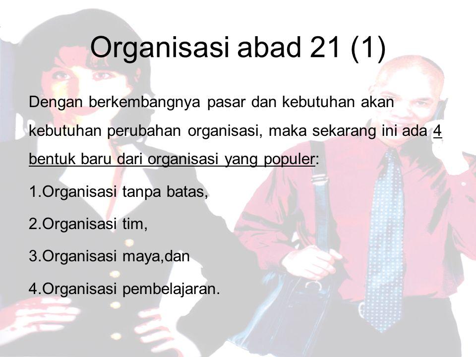 Organisasi abad 21 (1)