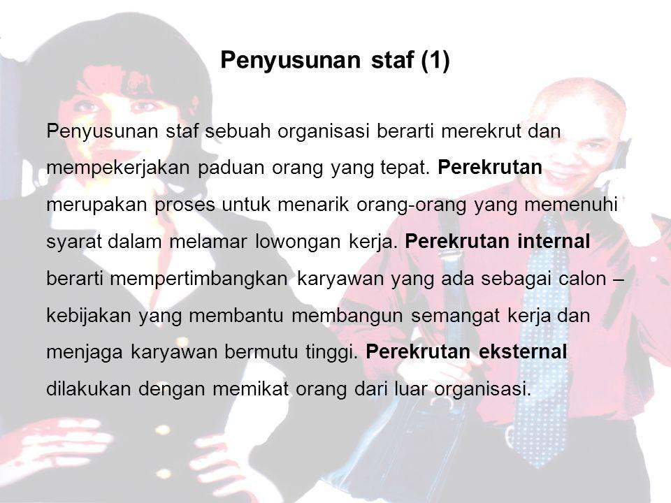 Penyusunan staf (1)