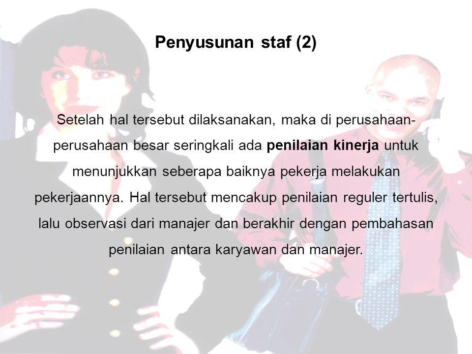 Penyusunan staf (2)