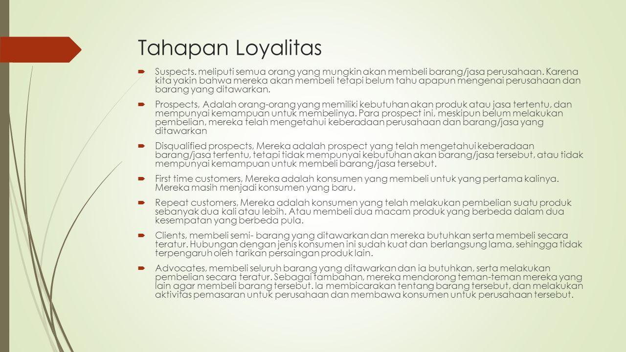 Tahapan Loyalitas