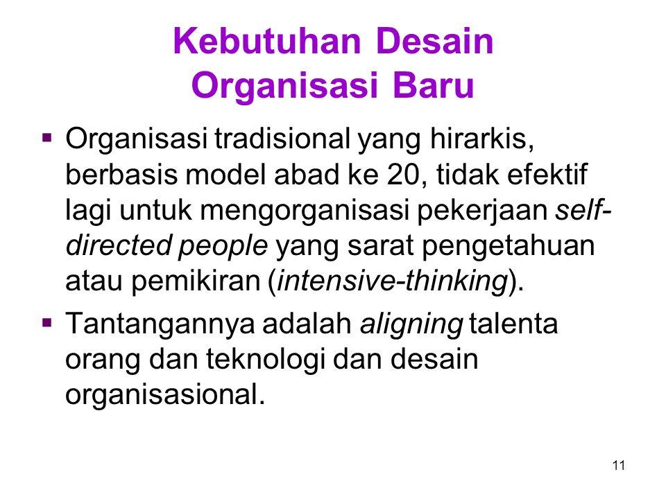 Kebutuhan Desain Organisasi Baru