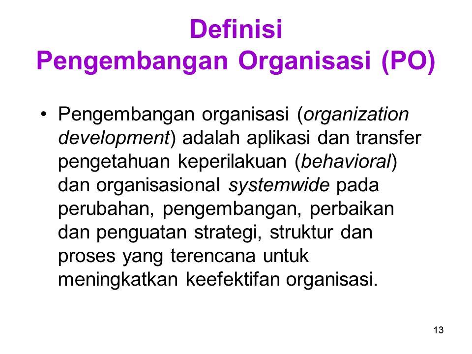Definisi Pengembangan Organisasi (PO)