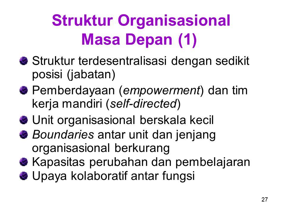 Struktur Organisasional Masa Depan (1)