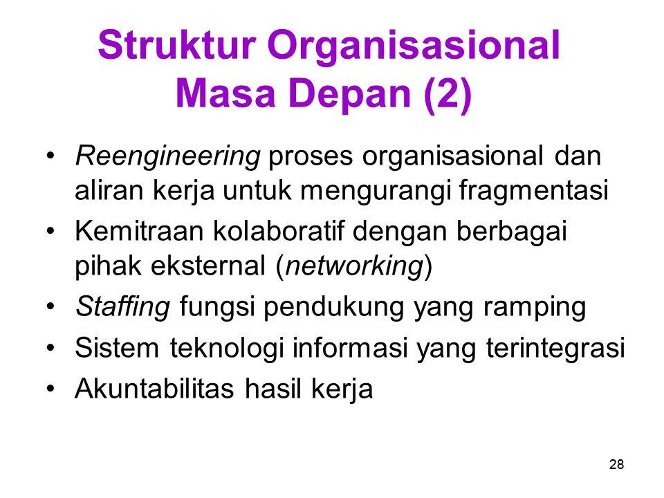 Struktur Organisasional Masa Depan (2)