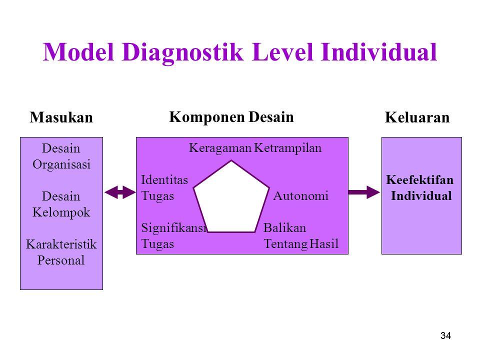 Model Diagnostik Level Individual