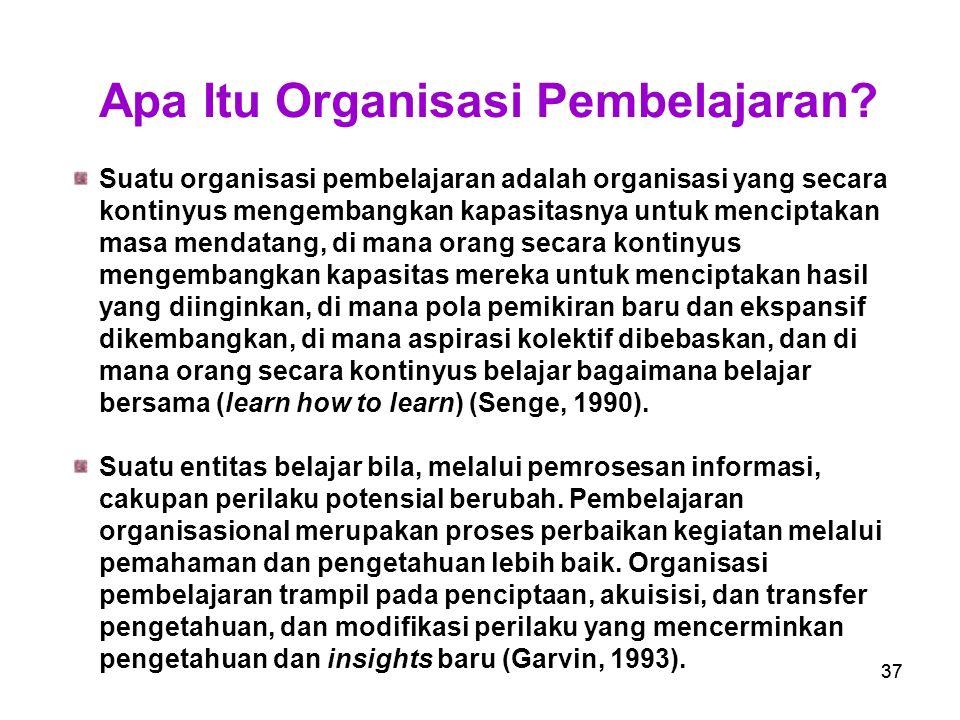Apa Itu Organisasi Pembelajaran