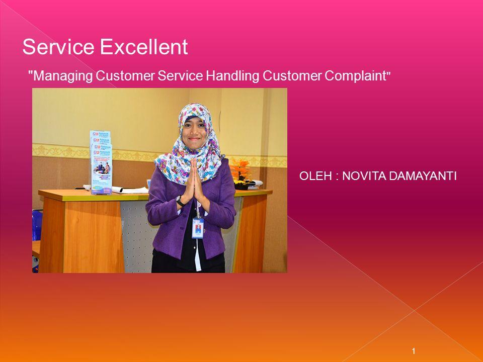 Managing Customer Service Handling Customer Complaint