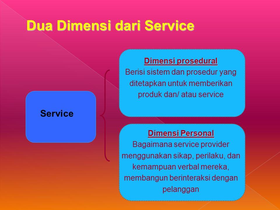 Dua Dimensi dari Service