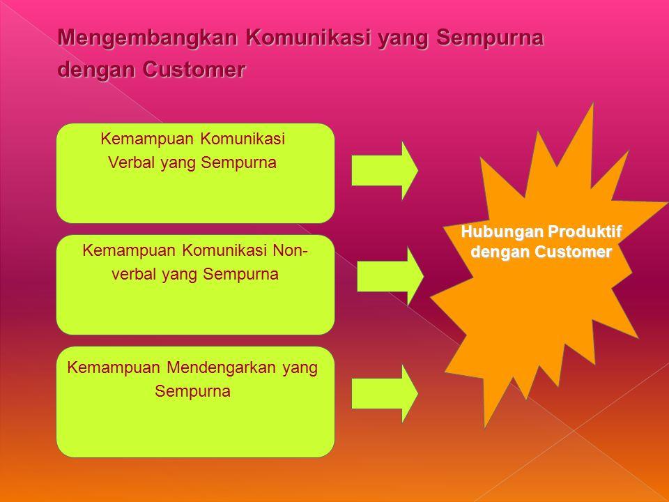 Hubungan Produktif dengan Customer