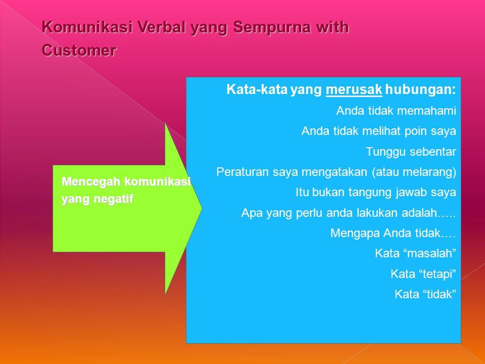 Komunikasi Verbal yang Sempurna with Customer
