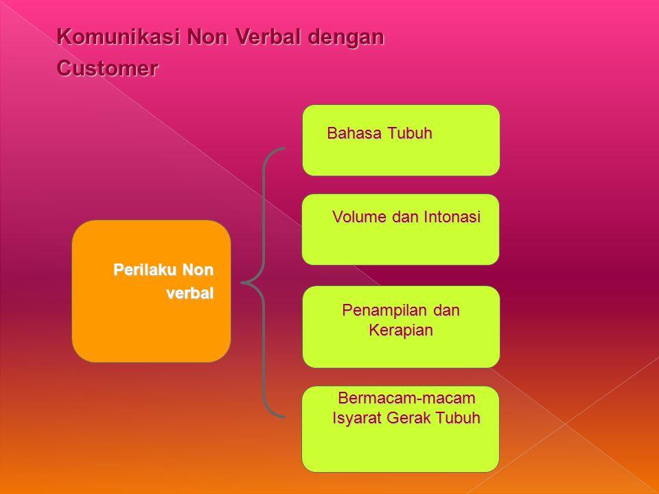 Komunikasi Non Verbal dengan Customer