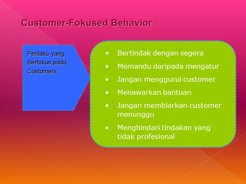 Customer-Fokused Behavior