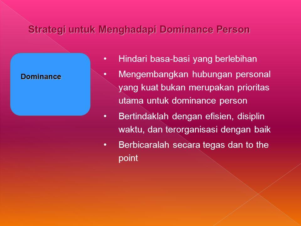 Strategi untuk Menghadapi Dominance Person