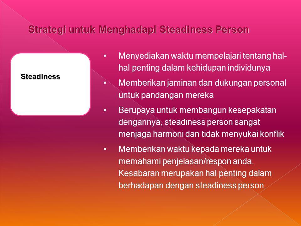 Strategi untuk Menghadapi Steadiness Person