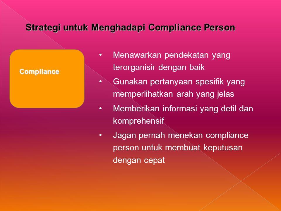 Strategi untuk Menghadapi Compliance Person