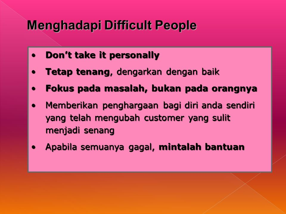 Menghadapi Difficult People