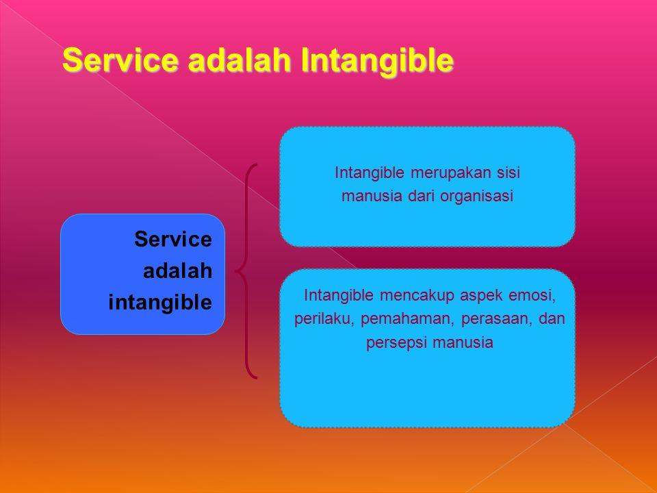 Intangible merupakan sisi manusia dari organisasi