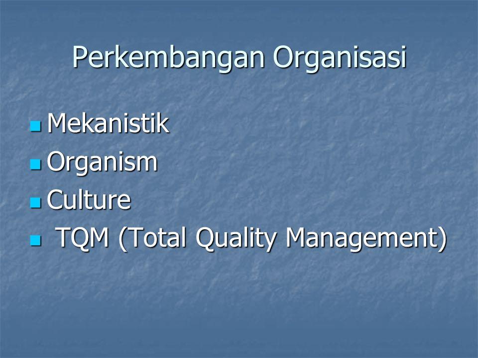 Perkembangan Organisasi