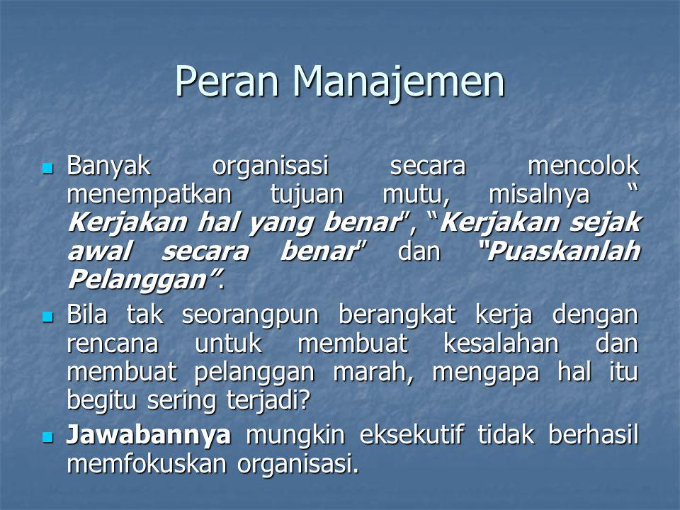 Peran Manajemen