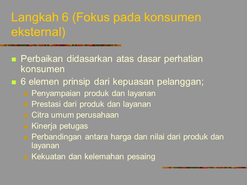 Langkah 6 (Fokus pada konsumen eksternal)