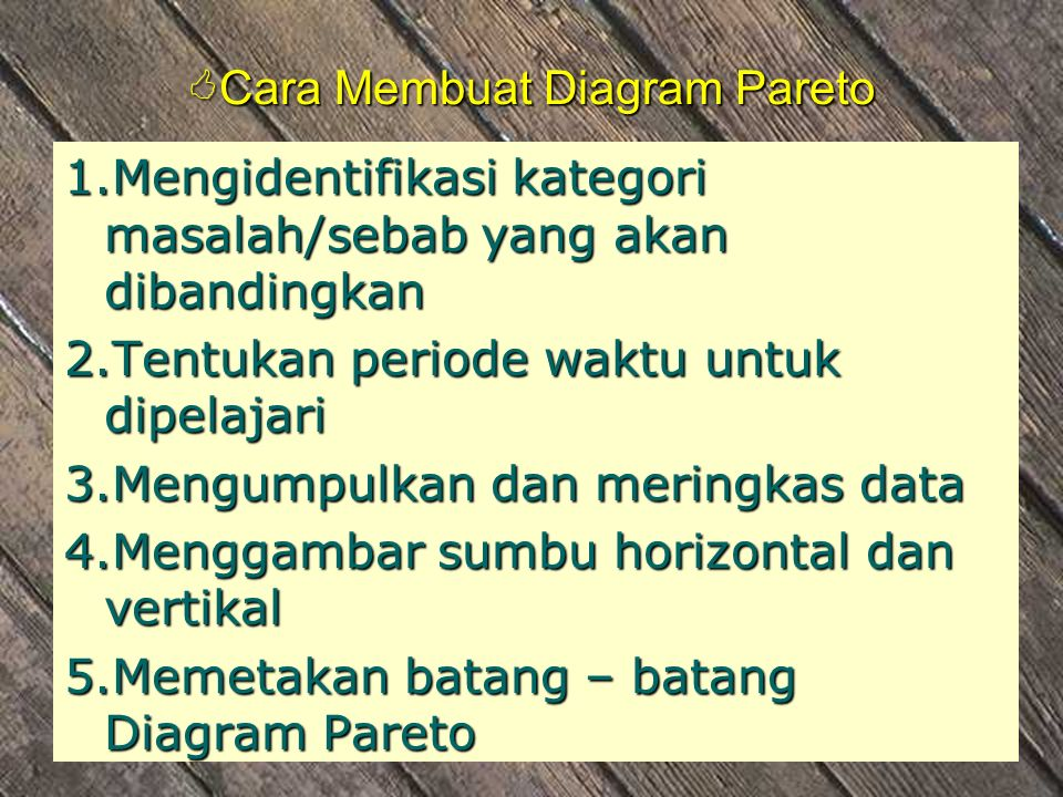 Cara Membuat Diagram Pareto