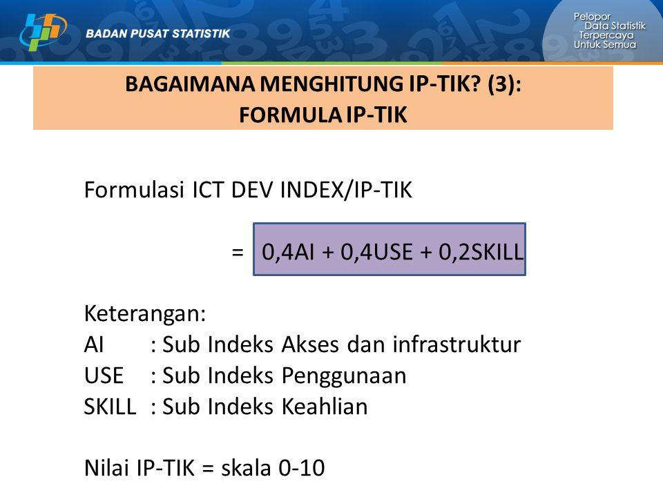 BAGAIMANA MENGHITUNG IP-TIK (3): FORMULA IP-TIK