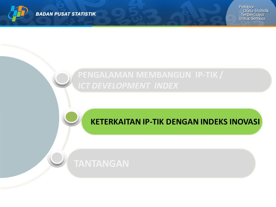 TANTANGAN PENGALAMAN MEMBANGUN IP-TIK / ICT DEVELOPMENT INDEX