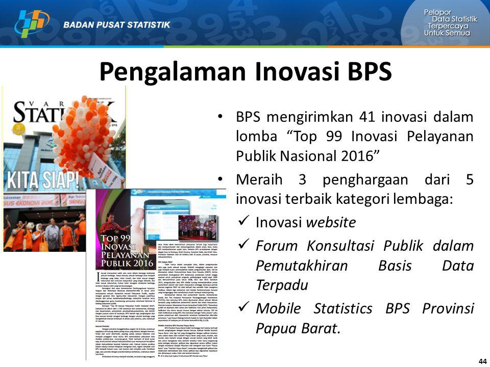 Pengalaman Inovasi BPS