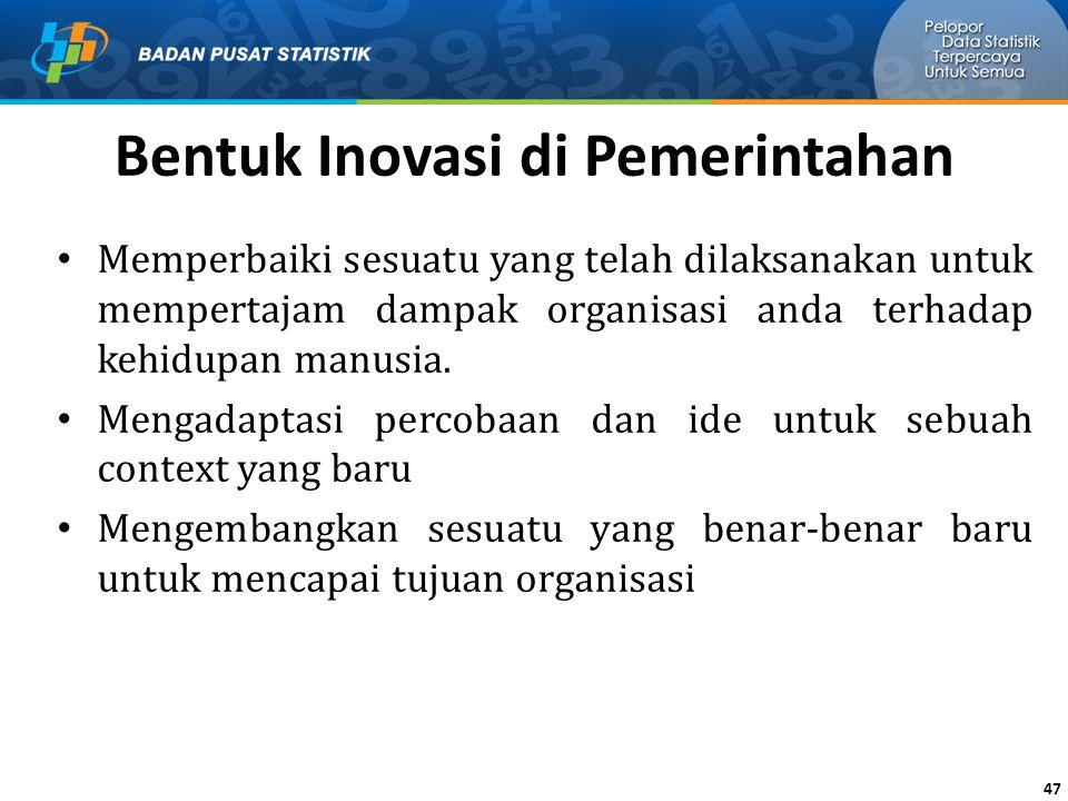 Bentuk Inovasi di Pemerintahan