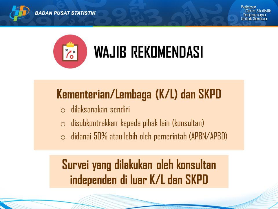 Kementerian/Lembaga (K/L) dan SKPD