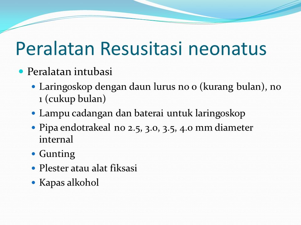 Peralatan Resusitasi neonatus