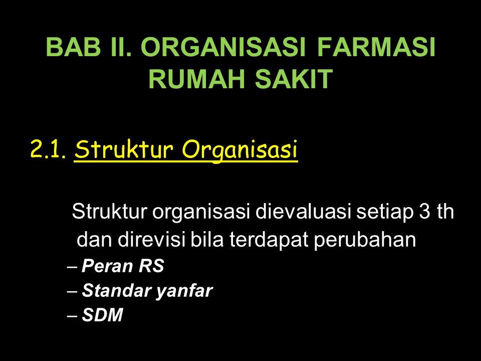 BAB II. ORGANISASI FARMASI RUMAH SAKIT