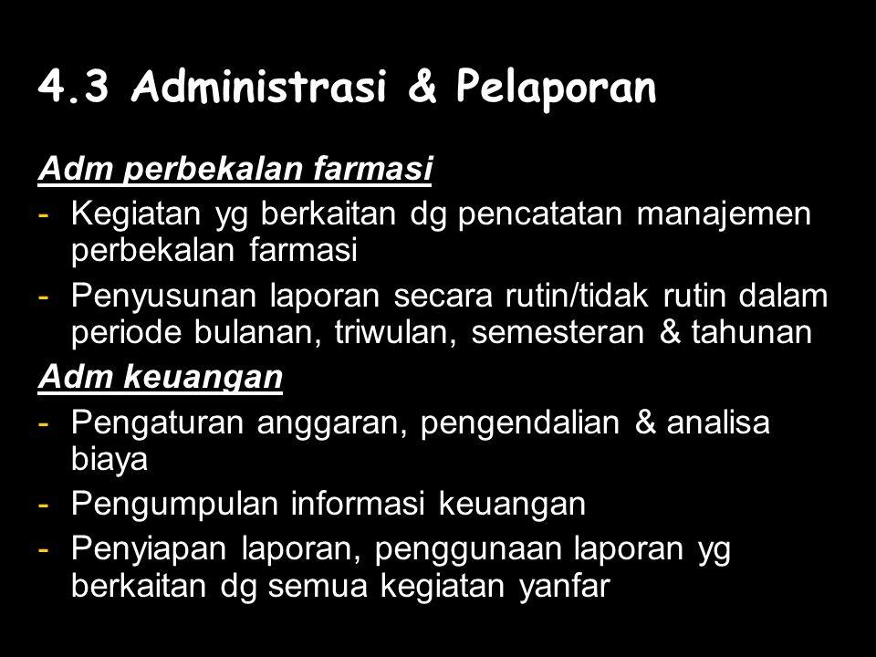 4.3 Administrasi & Pelaporan