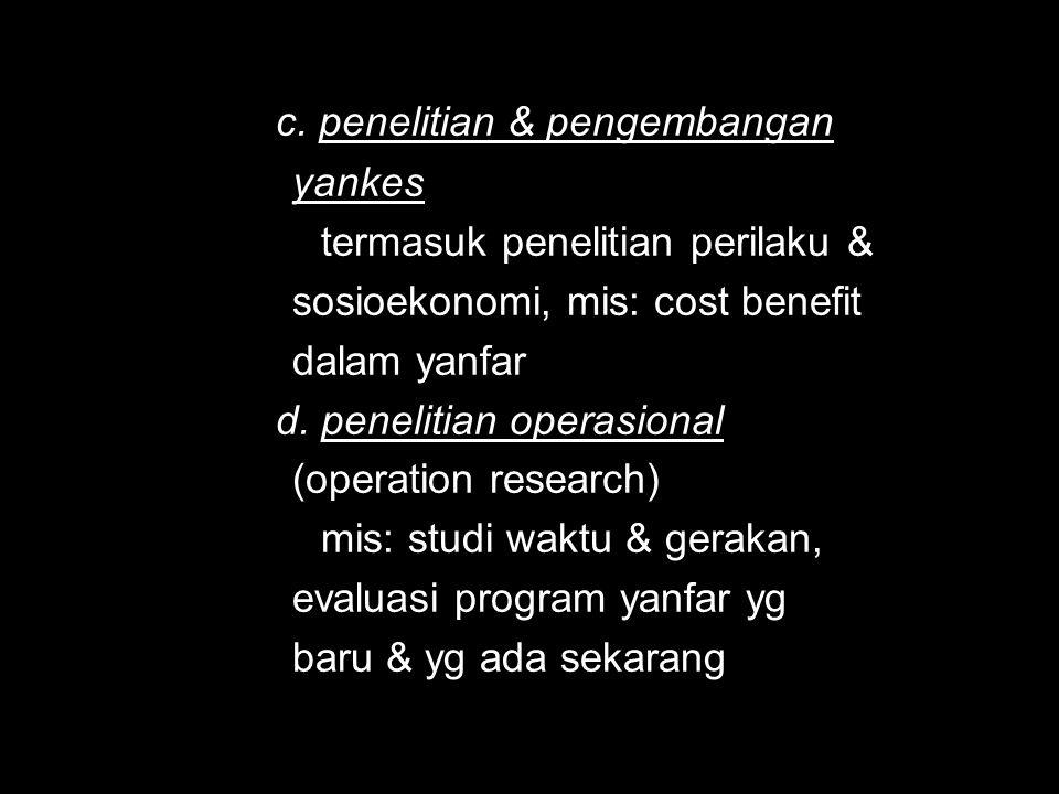 c. penelitian & pengembangan