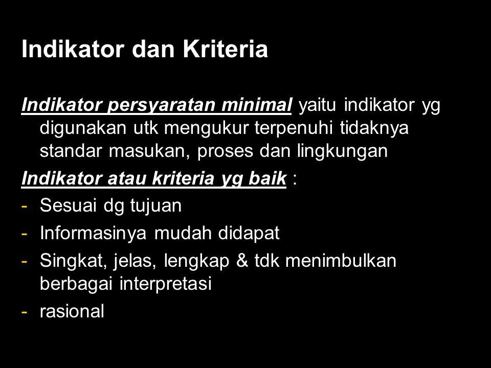 Indikator dan Kriteria