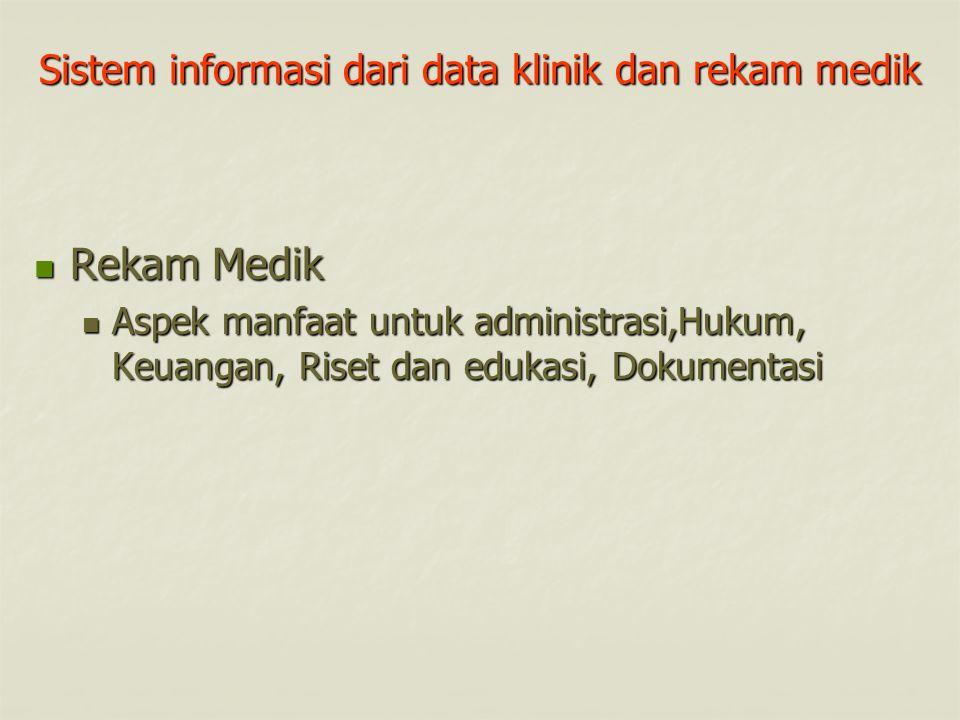 Sistem informasi dari data klinik dan rekam medik