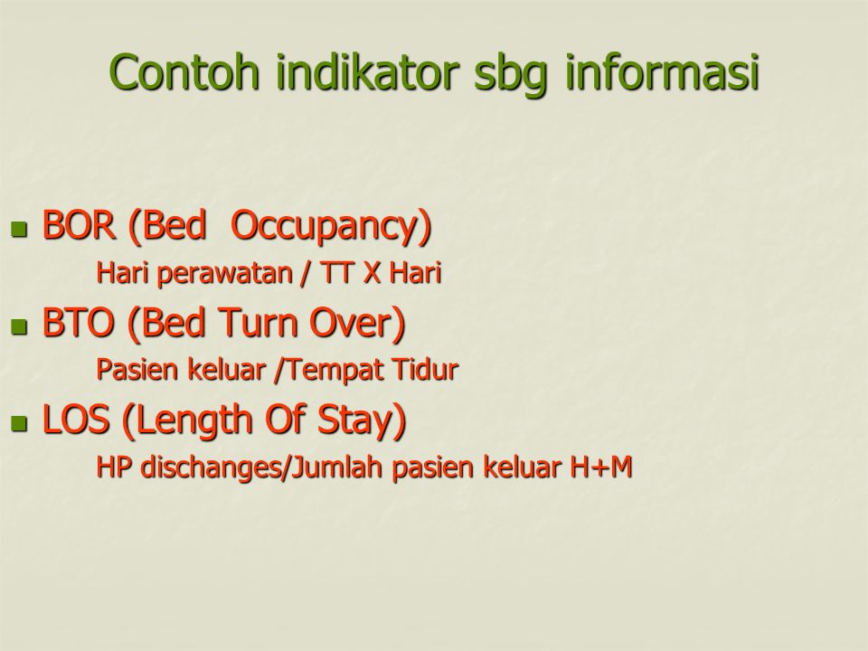 Contoh indikator sbg informasi