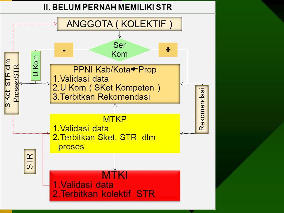 II. BELUM PERNAH MEMILIKI STR