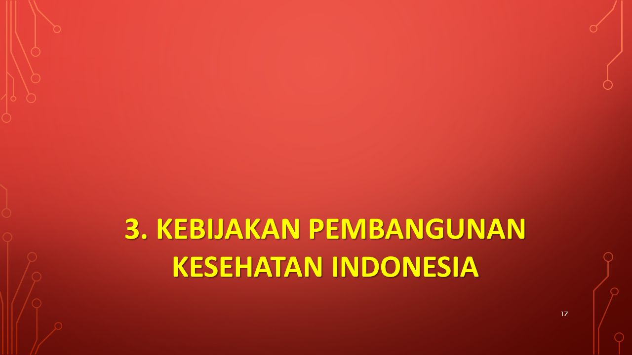 3. KEBIJAKAN PEMBANGUNAN KESEHATAN INDONESIA