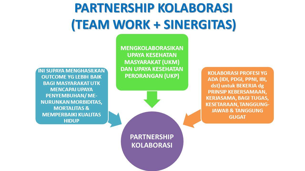 PARTNERSHIP KOLABORASI (TEAM WORK + SINERGITAS)