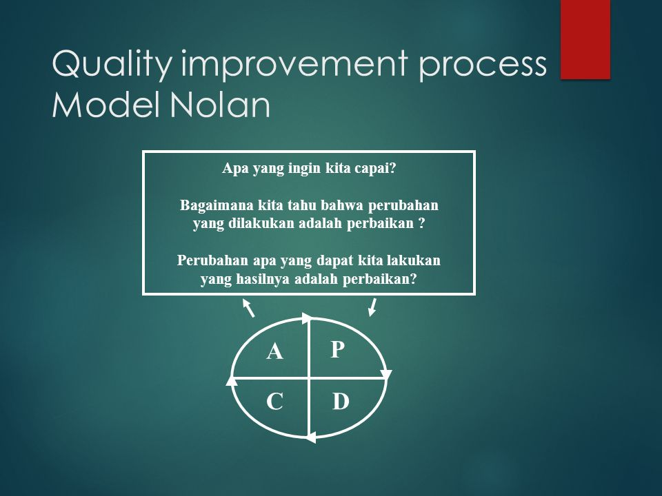 Quality improvement process Model Nolan