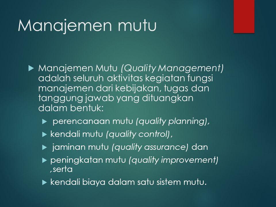 Manajemen mutu