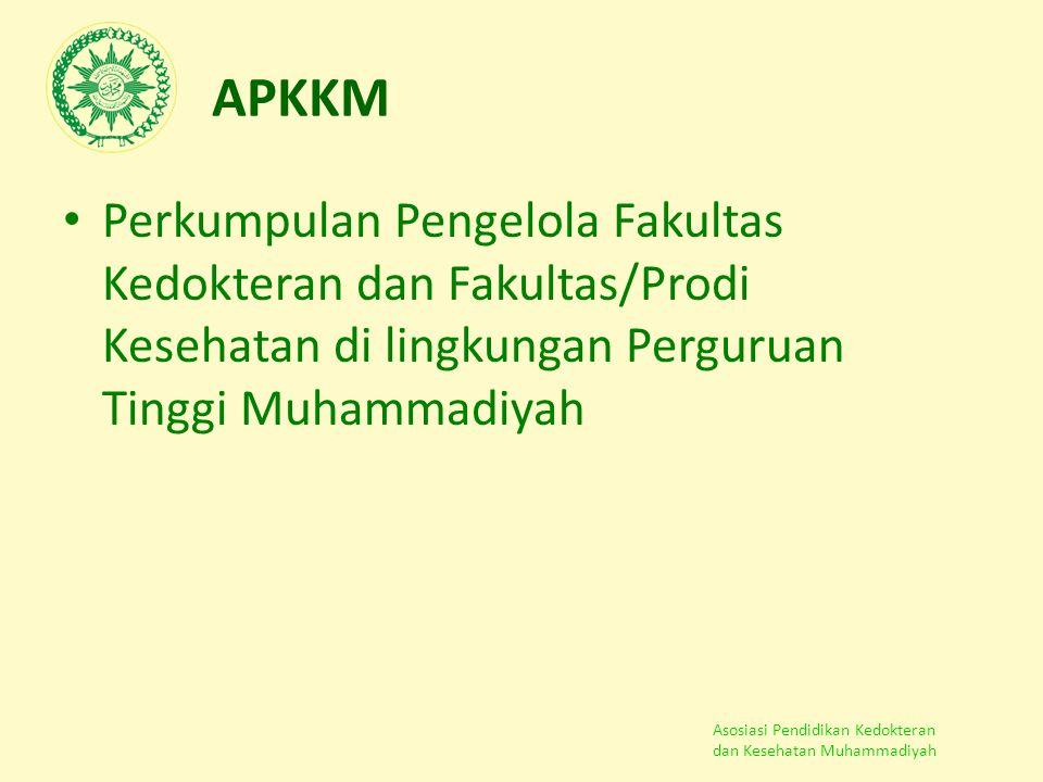 APKKM Perkumpulan Pengelola Fakultas Kedokteran dan Fakultas/Prodi Kesehatan di lingkungan Perguruan Tinggi Muhammadiyah.