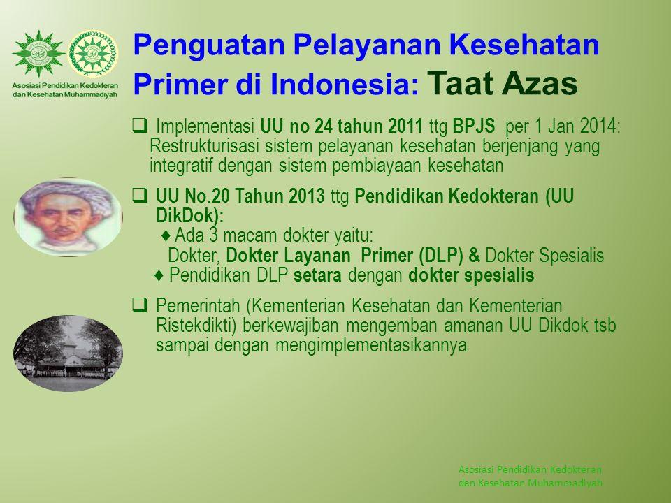 Penguatan Pelayanan Kesehatan Primer di Indonesia: Taat Azas